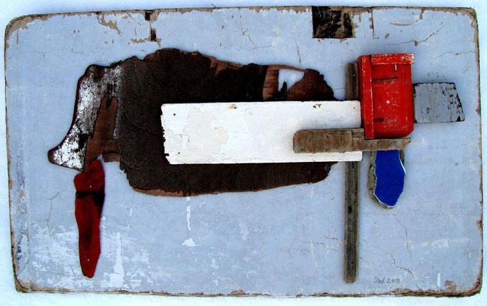 Oostende Raversijde Hond, 2011, 85x50cm