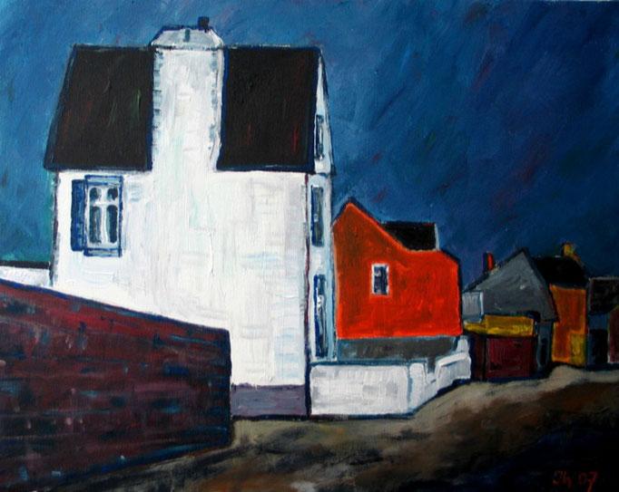 Häuser an der Küste, 2007, 50x40cm