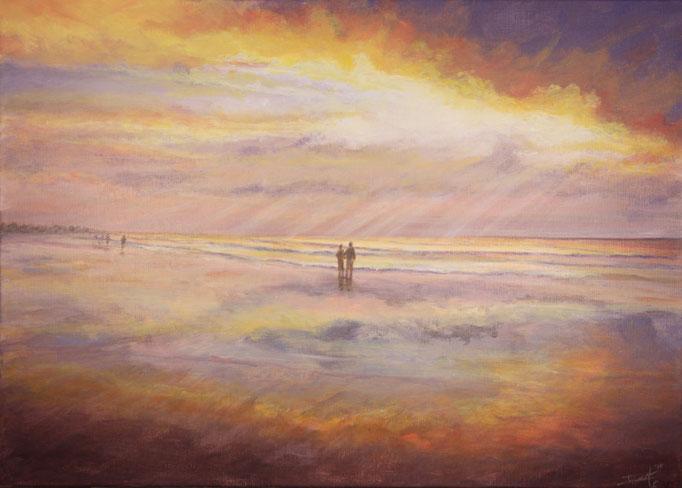 Beautiful Evening, acryl op linnen, 80 cm x 60 cm VERKOCHT