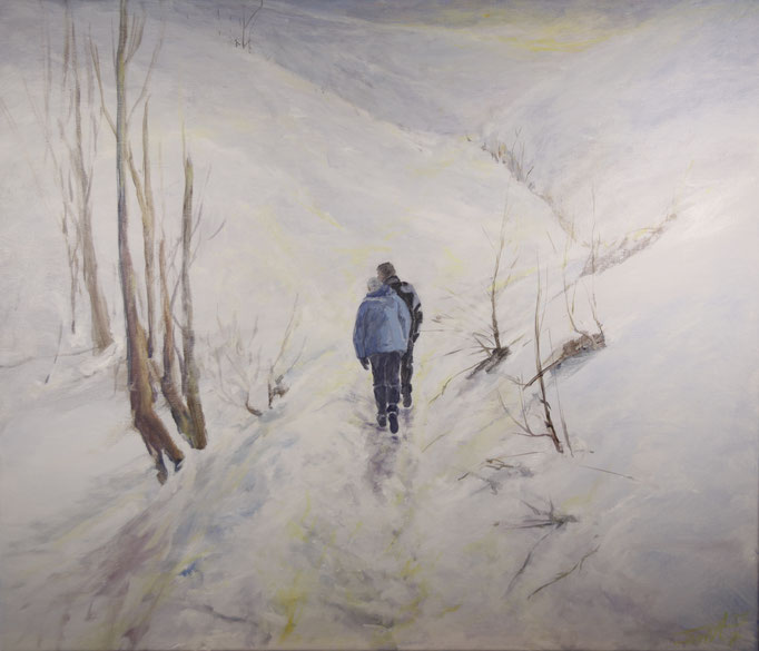 Winter!! acryl op linnen, 50 cm x 50 cm