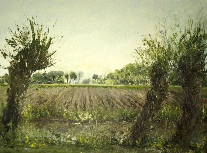 Uitzicht op Wehe, acryl op linnen, 40 x 30 cm VERKOCHT