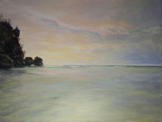 Paradise Beach, acryl op linnen, 40 cm x 30 cm