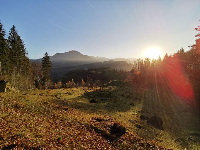 Das Brüniger Älpeli im Morgenlicht.  Bild: Andreas Staeger