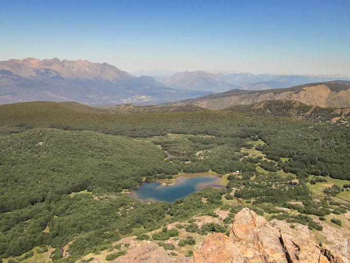 Blick auf das Refugio La Natación