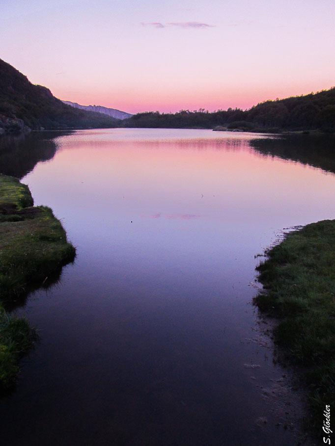 Lagune im Abendlicht