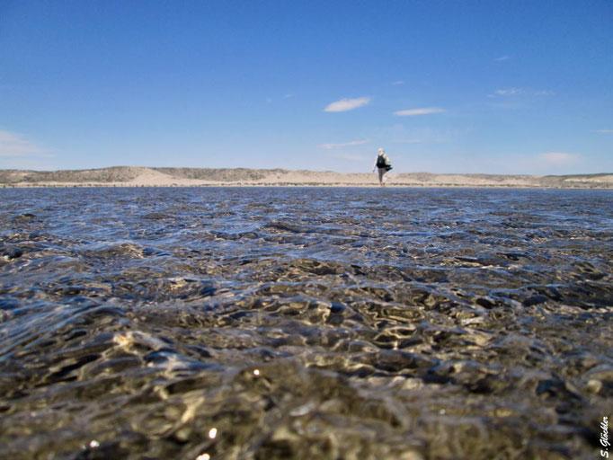 bei Flut bleibt von dem Strand nicht mehr viel übrig