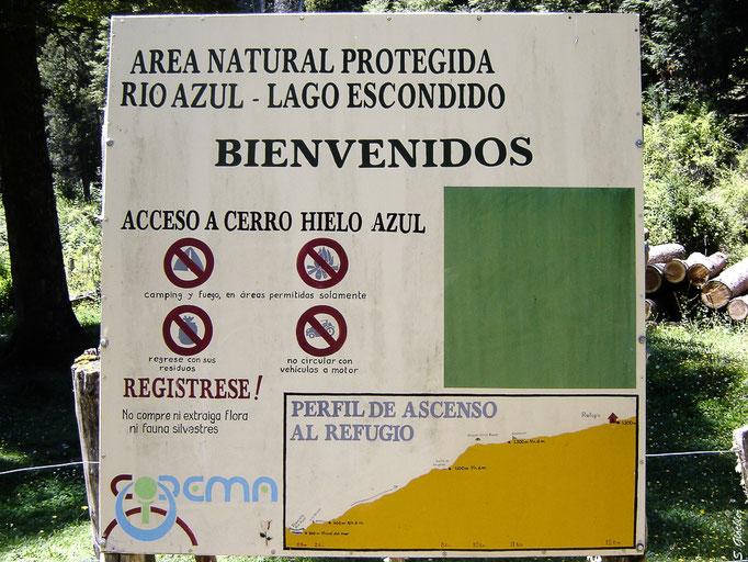Wanderung zum Refugio Hielo Azul
