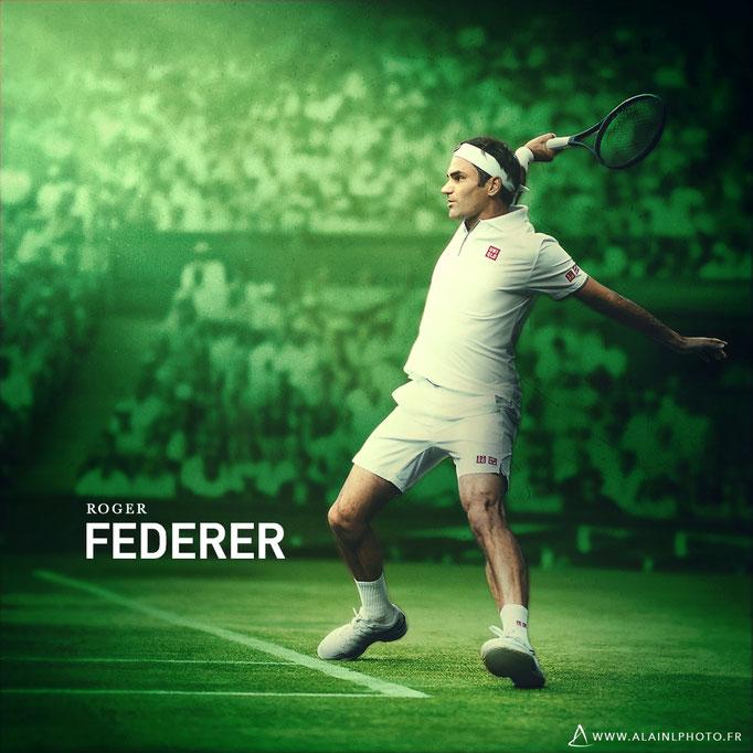 Roger Federer - Après retouche couleur