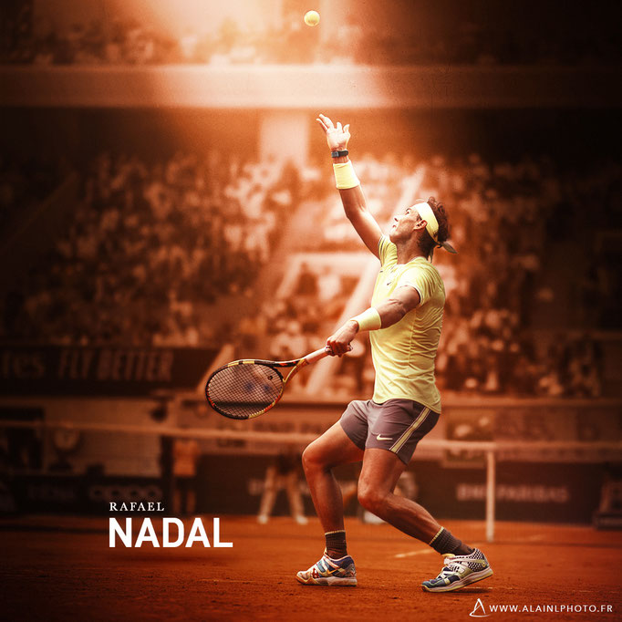Rafael Nadal - Après retouche couleur
