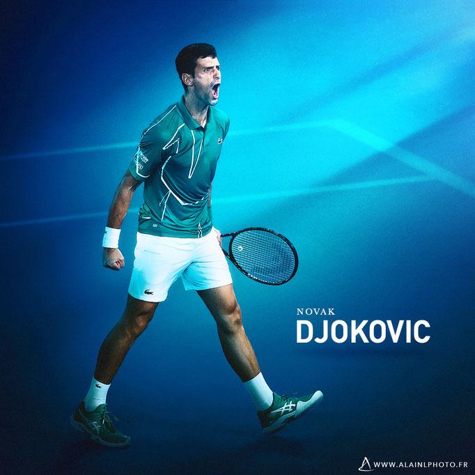 Novak Djokovic - Après retouche couleur