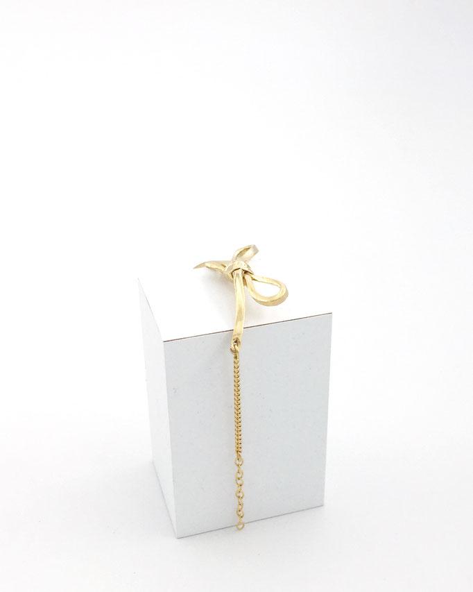 "Astrid Siber - Armband ""Masche"" - Silber vergoldet"