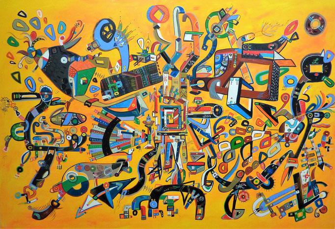 Intento de Madurez (Essai sur la Maturité) 130 x 89 cm Acrylique et huile sur lin, 2016