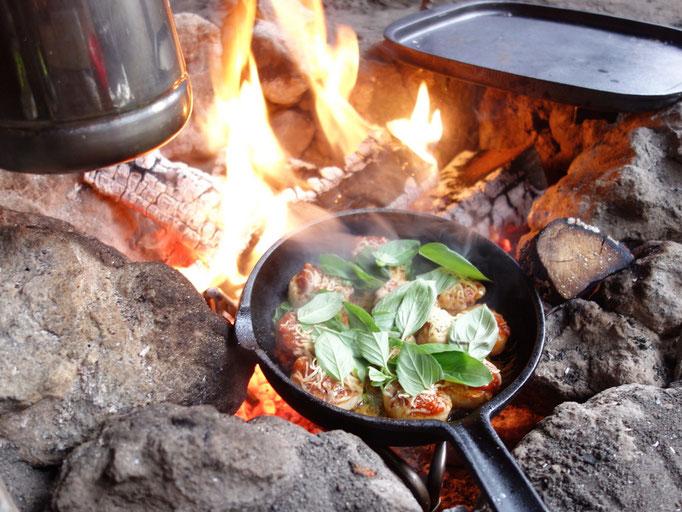 北軽井沢スィートグラスでの冬キャンプ。焚火キャンプもしっかり楽しみます!(2018.3.16)