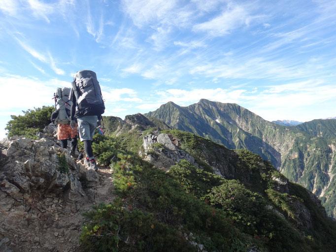 五竜岳からキレットを超えて鹿島槍ヶ岳へ(2018.8.19)