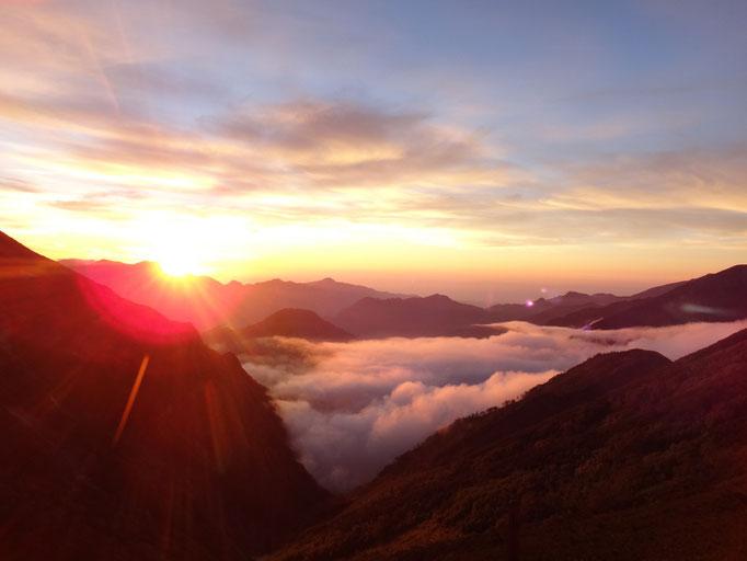 五竜山荘からの夕日(2018.8.18)