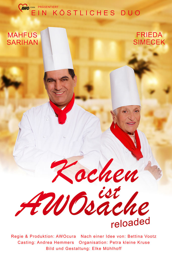 Oldies but Goldies Poster Image Bild Plakat Kochen ist AWOsache