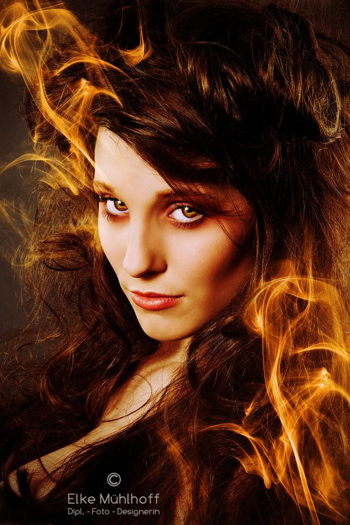 Beauty Komposition Feuer