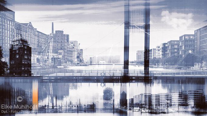 Duisburg Innenhafen Komposition Mix Kunst