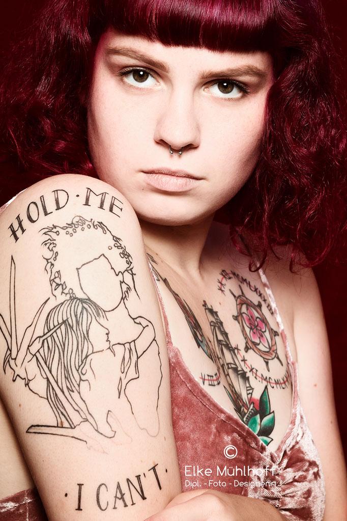 Beauty Fotografie Portrait Tattoo Pinup