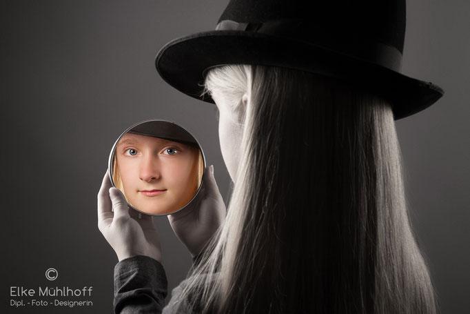 Portrait Teen Spiegelung