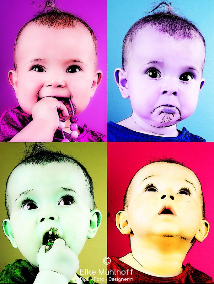 Baby Portrait Foto Pop Art