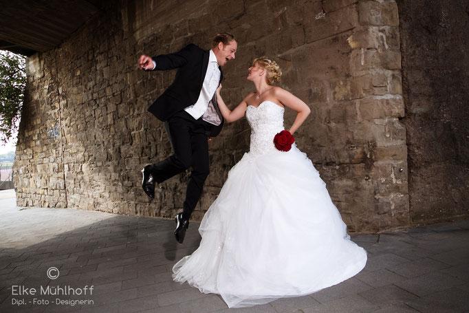 Hochzeit Outdoor Action Spaß
