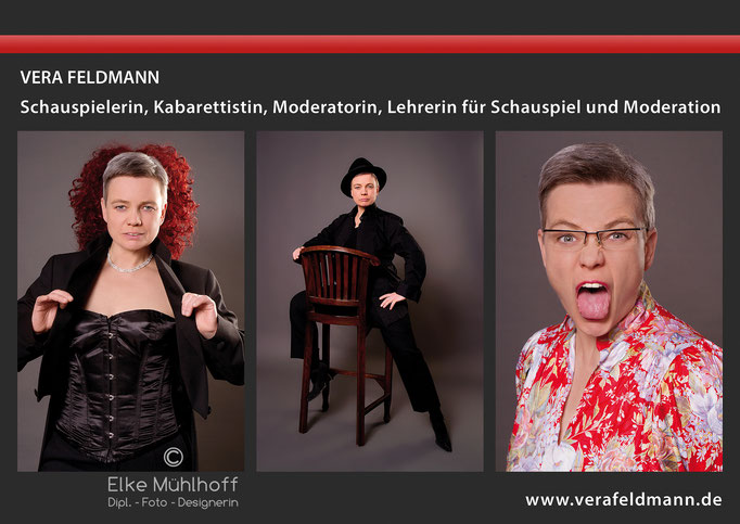 Sedcard Portrait Schauspiel Theater Vera Feldmann