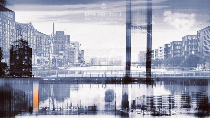 Bildmontage Komposition Hafen-Feeling Duisburg
