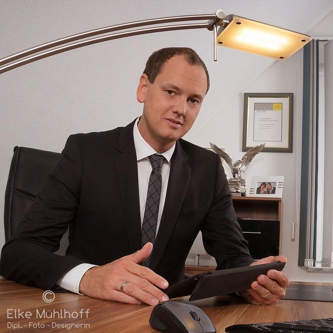 Business-Portrait im Unternehmen