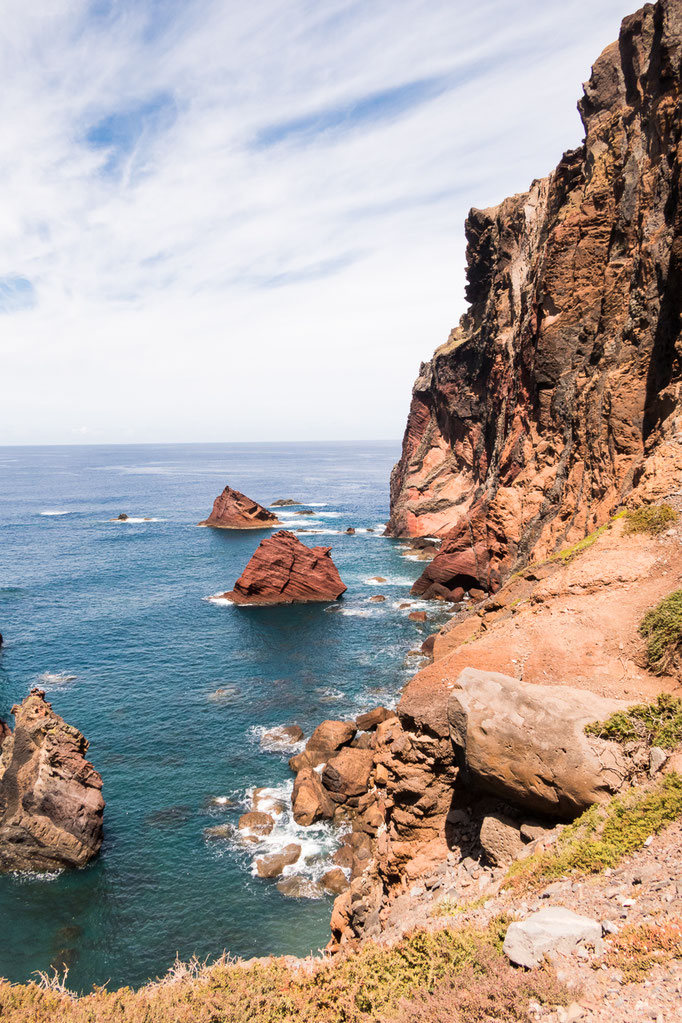 De rotsformaties van Ponta de Sâo Lourenço, Madeira