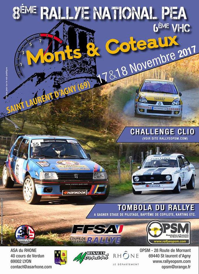 8eme rallye monts et coteaux 2017