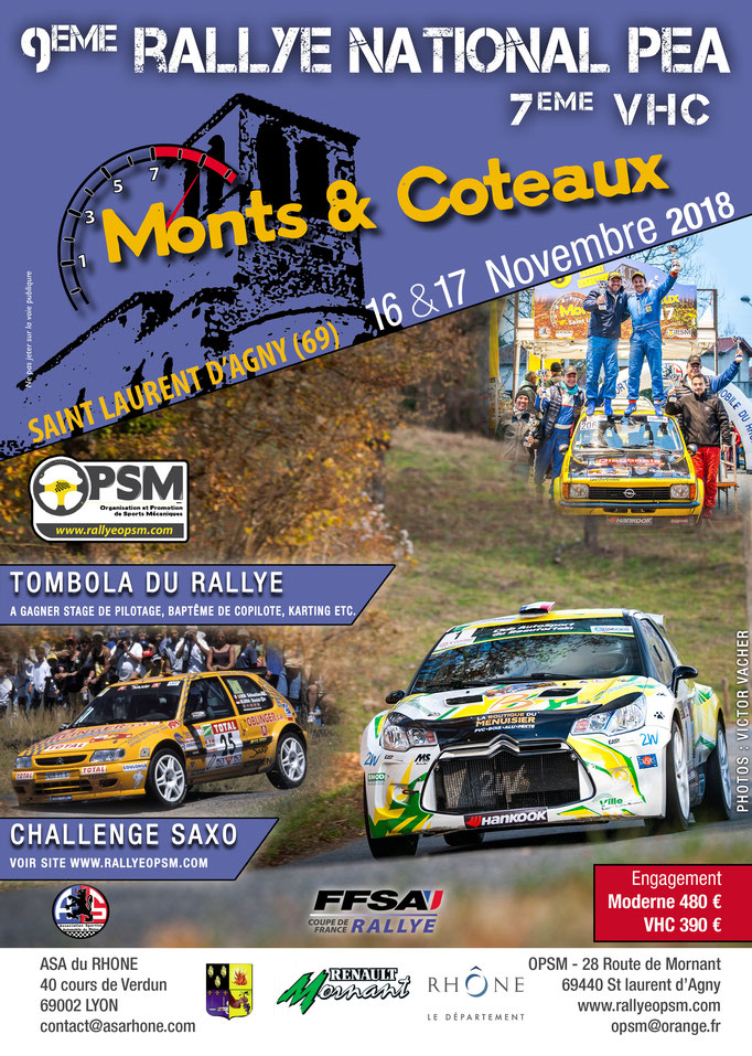 9eme rallye monts et coteaux 2018