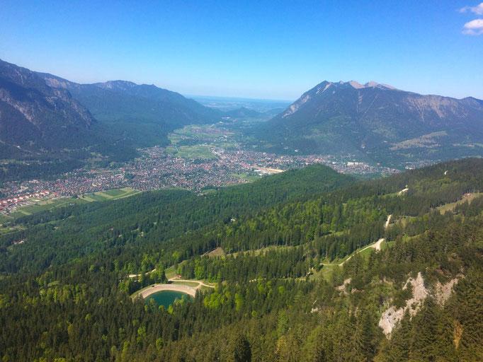 Aussicht auf Garmisch-Partenkirchen