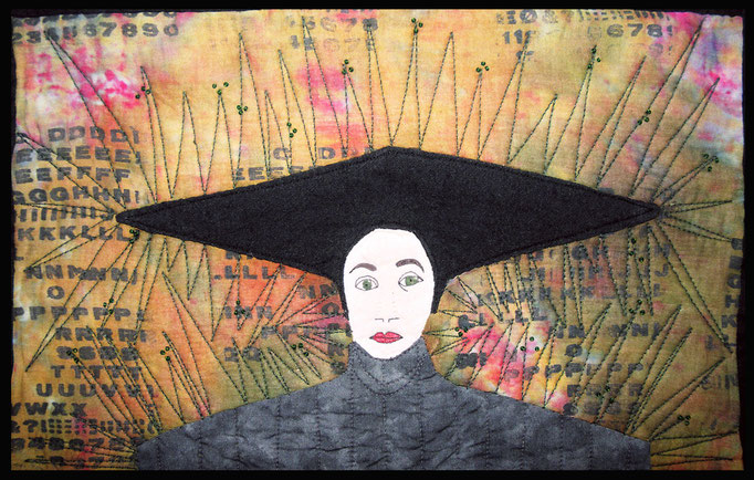 Frau mit Hut I, inspiriert durch M. Chodakowska