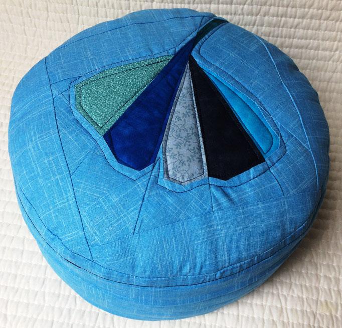 Yogakissen, blau