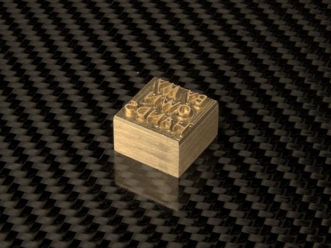Miniaturbrennplatte aus Messing