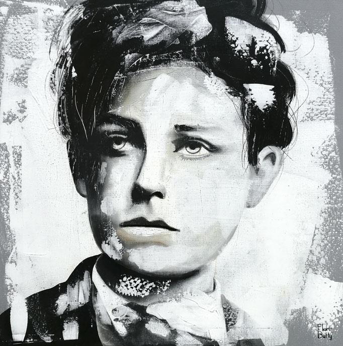 Esquisse sur stuc Rimbaud