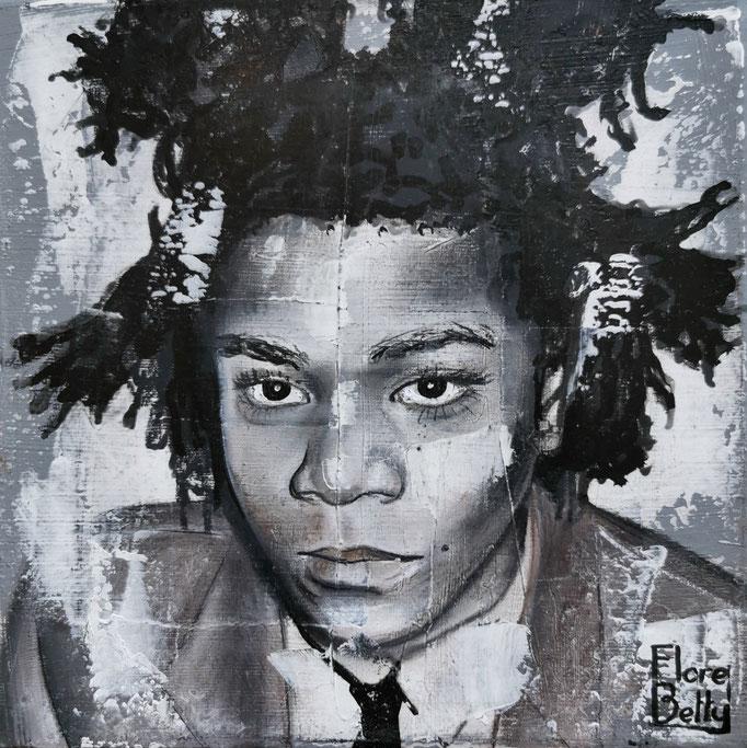 Esquisse sur stuc Basquiat