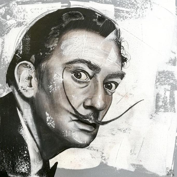 Esquisse sur stuc Dali