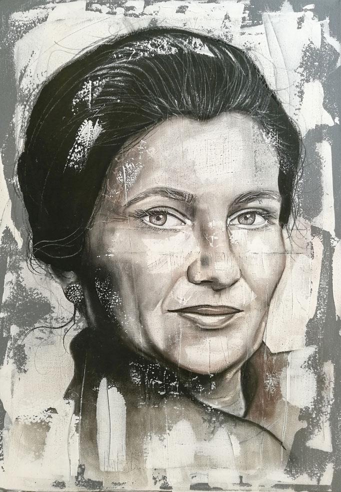 Esquisse sur stuc Simone Veil
