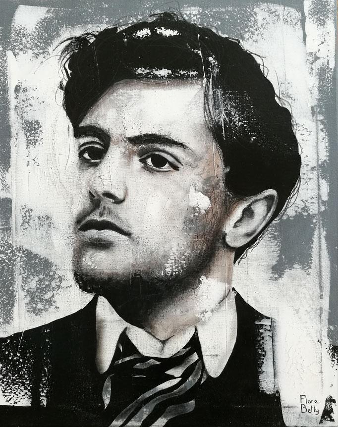 Esquisse sur stuc Modigliani