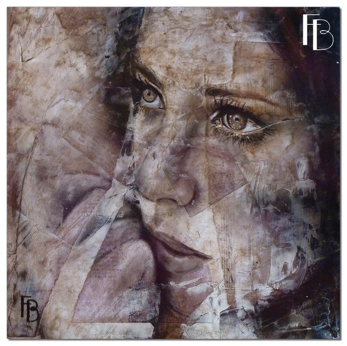 Portrait 11 - Série Stuc (vendu)