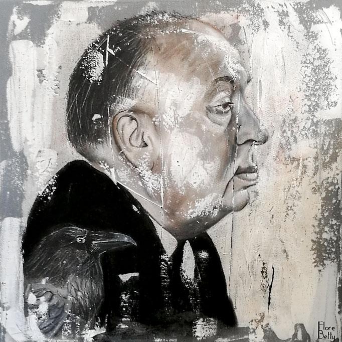 Esquisse sur stuc Hitchcock