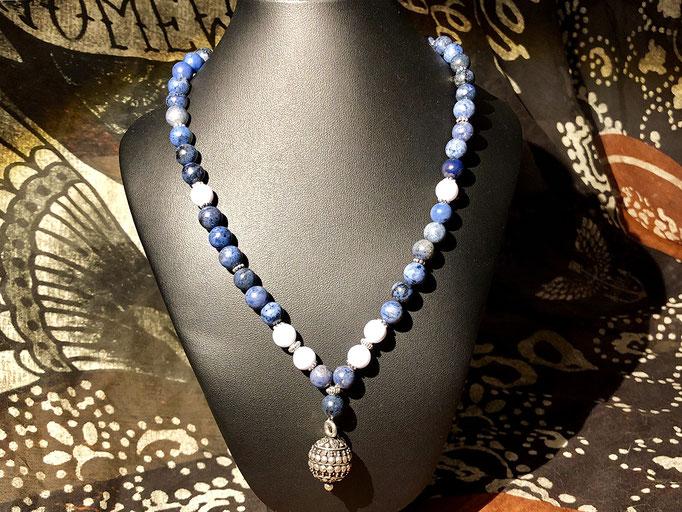 Passende Halskette zum Armband mit massiver Silberkugel
