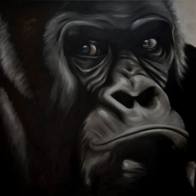 Fritz,  Öl auf Leinwand, 60 x 60
