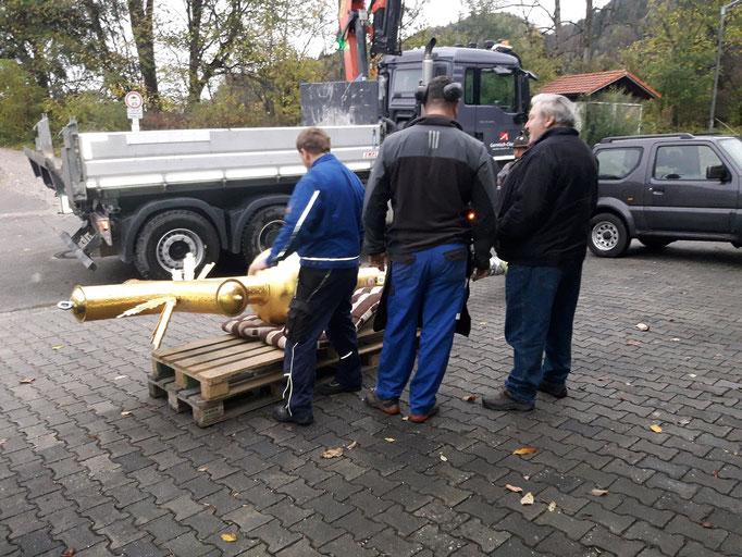 Reparatur Zugspitzkreuz Oktober 2018