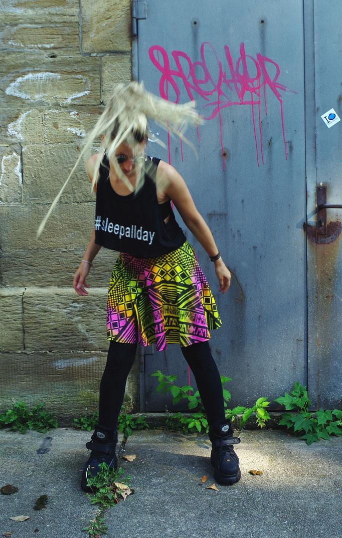 Rainbow Aztec Hipster Skirt/ Regenbogen Aztekenmuster Rock