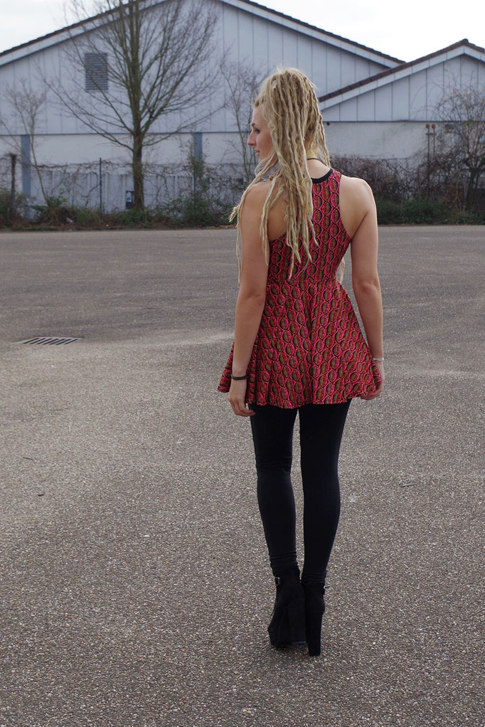 Hippie mini dress/ Minikleid