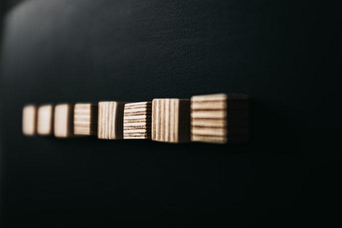 kleine Holzmagnete