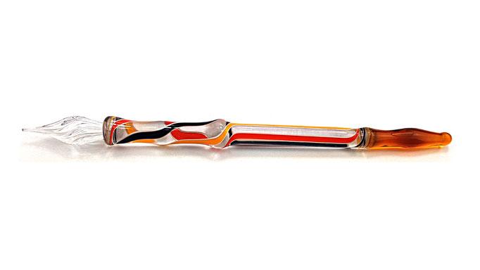 Beispiel: * Glasfeder * Venezianische Feder * im Etsy-Shop kaufen